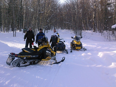 Sleds on the trail