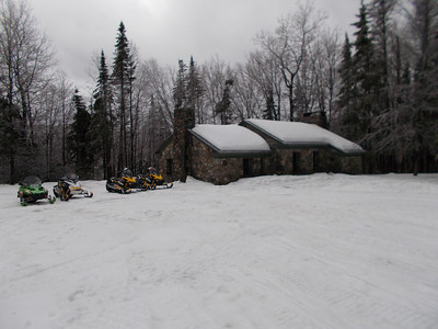 4 Sleds and the Stone House